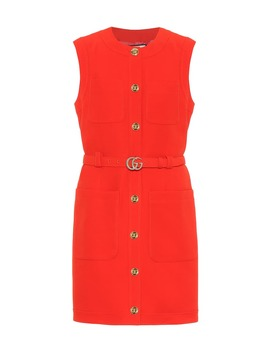 Wool And Silk Cady Minidress by Gucci