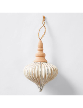 Natural Nostaglia Wooden Top Glass Onion Christmas Tree Decoration by Target