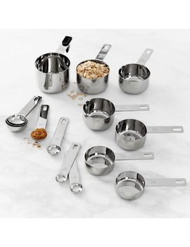 Williams Sonoma Stainless Steel Ultimate Measuring Cups & Spoons, Set Of 14 by Williams   Sonoma
