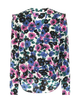 Floral Stretch Silk Top by Veronica Beard
