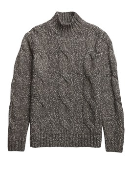 Cable Knit Turtleneck Sweater by Banana Repbulic