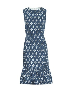 Exclusive To Mytheresa – Printed Stretch Cotton Poplin Dress by Oscar De La Renta