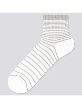 Men Pile Striped Half Length Socks by Uniqlo