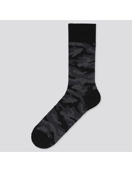 Men Camouflage Print Ankle Socks by Uniqlo