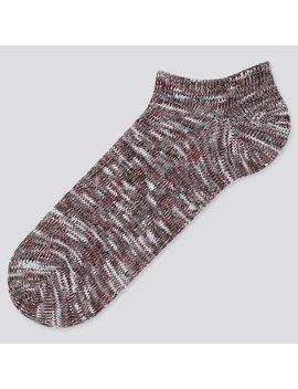 Men Slub Ankle Socks by Uniqlo