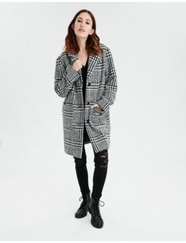 Ae Plaid Button Front Jacket by American Eagle Outfitters