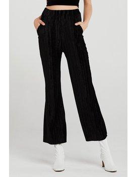 Jessica Crinkle Velvet Pants by Storets