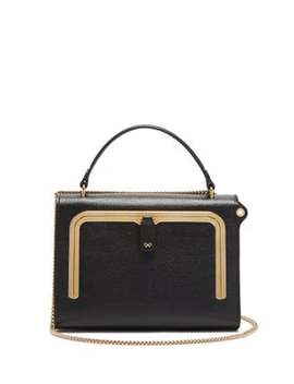 Postbox Small Grained Leather Cross Body Bag by Anya Hindmarch