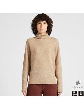 Uniqlo U Col RoulÉ Maille 3 D En Laine D'agneau Premium Femme by Uniqlo