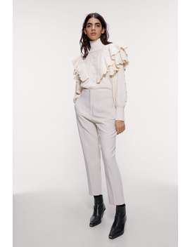 High Waisted Pants With Darts by Zara