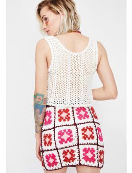 Arts N' Crafty Crochet Skirt by Dolls Kill