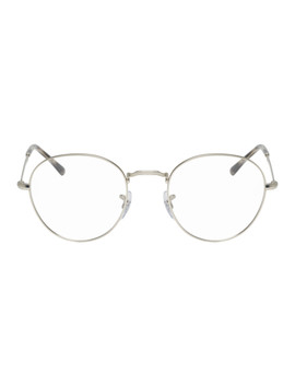 Silver Round Glasses by Ray Ban