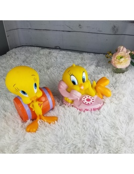 Vintage 1997 Looney Toons Tweety Bird Piggy Bank by Warner Bros.