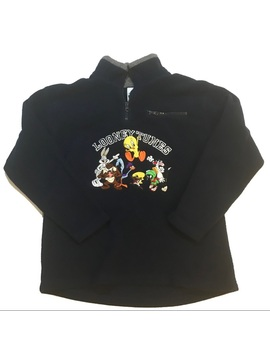Vintage Looney Tunes Embroidered Fleece 1/4 Zip by Warner Bros.