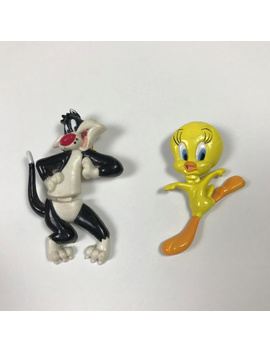 Vintage Looney Toones Sylvester Tweety Pins by Warner Bros.
