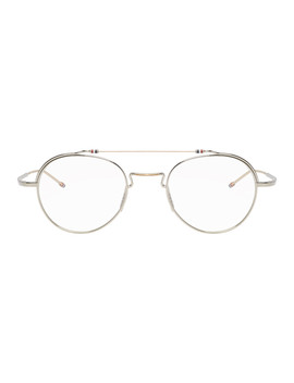 Silver Tbx912 Glasses by Thom Browne