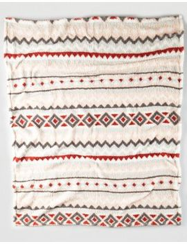 Aeo Apt Sherpa Printed Throw Blanket by American Eagle Outfitters