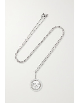 18 Karat Gray Gold Palladium, Enamel, Sapphire And Diamond Necklace by Moritz Glik