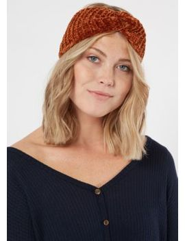 Gold Twist Front Chenille Headwrap by Rue21