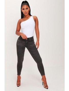 Charcoal Push Up High Waist Skinny Jeans by I Saw It First