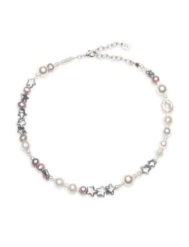 Cameo 4 Mm 12 Mm Freshwater Pearl Bead Star Choker Necklace by Dannijo