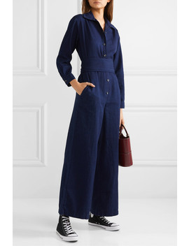 Belted Denim Jumpsuit by King & Tuckfield
