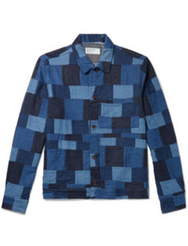 Patchwork Denim Chore Jacket by Universal Works