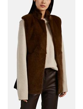 Dania Mink Fur & Foamy Wool Blend Vest by The Row
