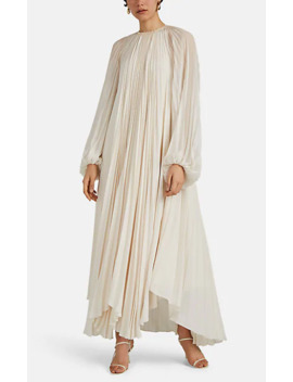 Martina Pleated Crepe Dress by The Row