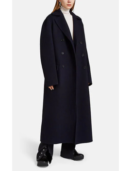 Cashmere Oversized Double Breasted Coat by Jil Sander