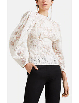 Floral Lace Corset Blouse by Givenchy