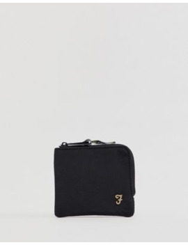 Farah Nylon Coin Wallet In Black by Asos
