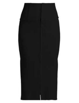 Directional Front Slit Skirt by Jonathan Simkhai