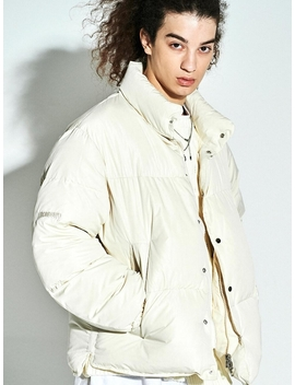 Colorway Puffer Down Short Parka Ivory by Sew Classic