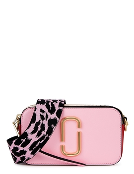 Snapshot Pink Leather Cross Body Bag by Marc Jacobs