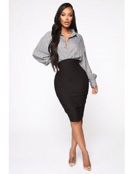 I See You Looking Super High Waist Skirt   Black by Fashion Nova