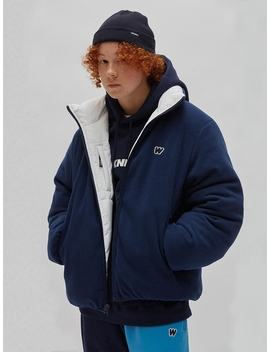 Reversible Padded Jacket Navy by Wkndrs