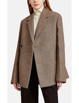 Gabardine Wrap Front Two Button Blazer by Jil Sander