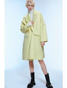 Oversized Lapel Collar Coat With Flap Pockets by Zara