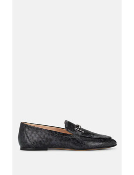Python Stamped Leather Loafers by Tod's