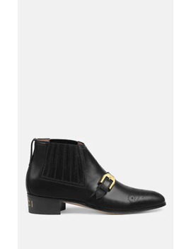 Leather Chelsea Ankle Boots by Gucci