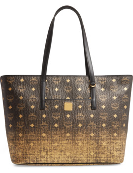 Medium Graduation Visetos Coated Canvas Shopper by Mcm