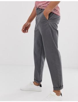 Asos Design Relaxed Skater Chinos In Gray by Asos Design