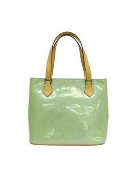 Louis Vuitton Houston Tote Shoulder Bag M91005 Vernis Baby Blue Green Vintage by Ebay Seller