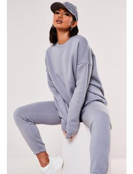Lilac Oversized Crew Neck Sweatshirt by Missguided