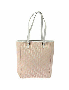 Auth Christian Dior Trotter Shoulder Tote Bag Pink White Canvas Leather Ak30737 by Ebay Seller