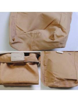 Vintage Christian Dior Womens Tote Handbag Trotter Canvas Beige Made In Italy by Ebay Seller