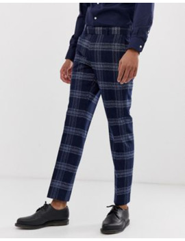 Moss London Slim Fit Suit Pants In Blue Check by Moss London