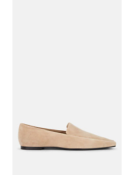 Minimal Suede Loafers by The Row