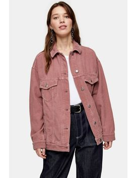 Pink Corduroy Super Oversized Jacket by Topshop